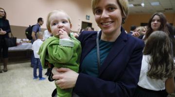 Spotkanie opłatkowe w Centrum Służby Rodzinie w Łodzi