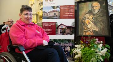 Pielgrzymka niepełnosprawnych do sanktuarium w Łasku