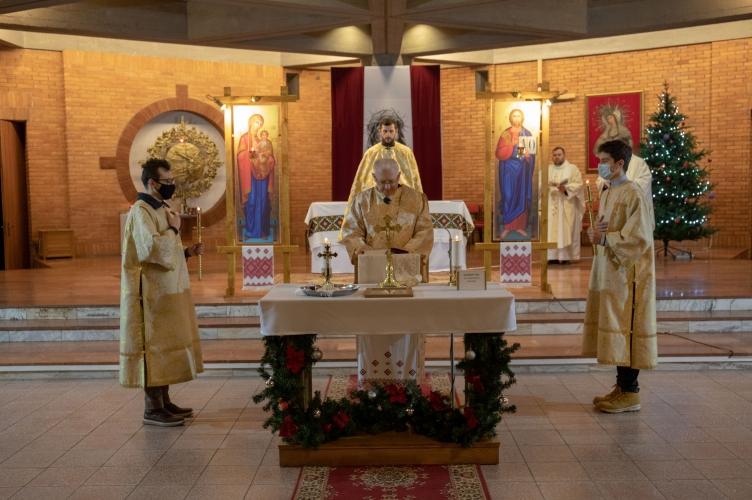 Boska Liturgia uroczystości Narodzenia Pańskiego w łódzkiej parafii Greckokatolickiej - 2021