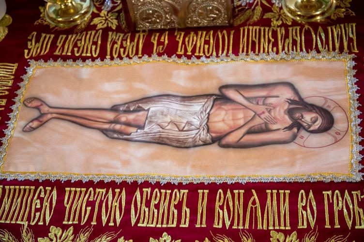 Liturgia Wielkiego Piątku z wyniesieniem Płaszczenicy w łódzkiej Cerkwii Greckokatolickiej - 2021
