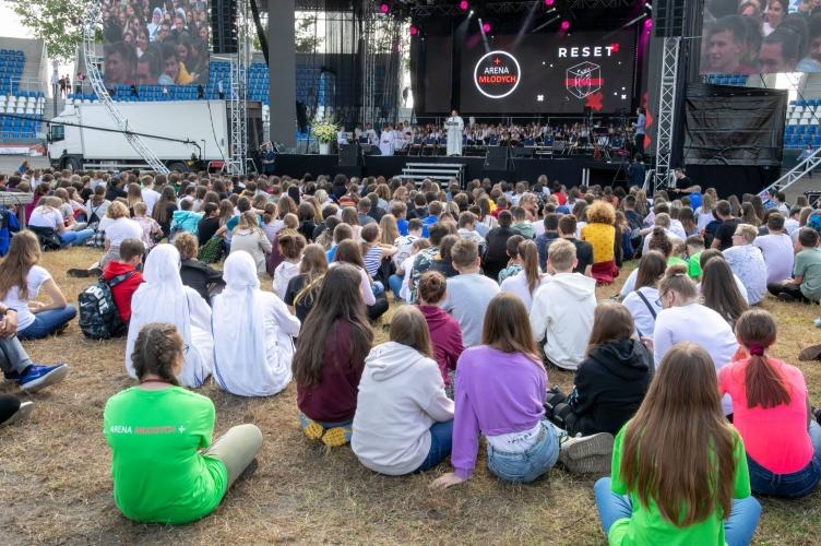 Abp Ryś: Wydarzy się dzisiaj to, że Jezus zachwyci się każdym z was | Arena Młodych 2021+