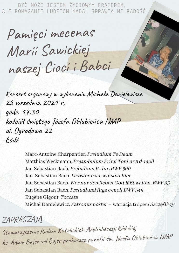 Pamięci mecenas Marii Sawickiej